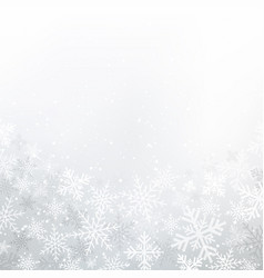 winter white background christmas made vector image