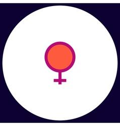 woman sex computer symbol vector image