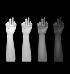 Women arms templates vector