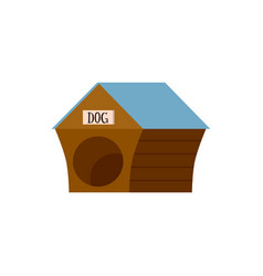 wooden doghouse icon or logo flat cartoon vector image