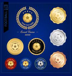 Set of football badge label or emblem for sport vector