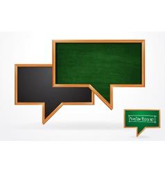 Blackboard speech bubble vector image vector image