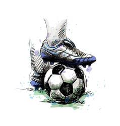 football player ball vector image