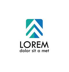 square arrow logo-01 vector image vector image