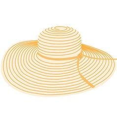 Summer hat vector image vector image