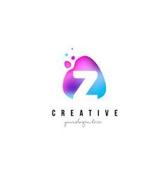 z letter dots logo design with oval shape vector image vector image