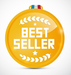 Best Seller Gold Medal vector image vector image