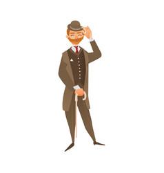 flat english gentleman isolated vector image