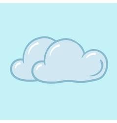 icon cloudy vector image