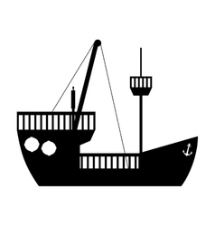 ship boat icon image vector image