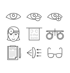 vision diagnostic and correction icons vector image