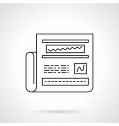 Web analytics icon line design icon vector image vector image