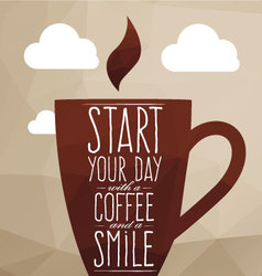 A large cup of coffee vector image