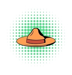 Hat icon in comics style vector image