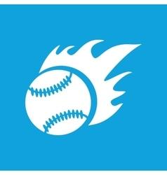 Hot baseball icon simple vector image