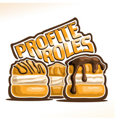 Logo for french profiteroles vector