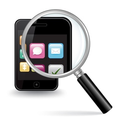 Smart Phone Close Up vector image vector image