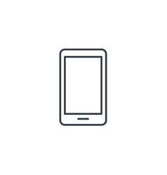 smartphone mobile phone thin line icon linear vector image vector image