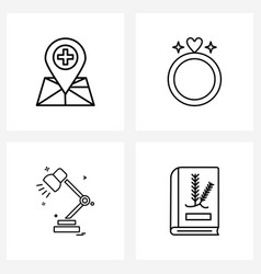 4 universal icons pixel perfect symbols of vector