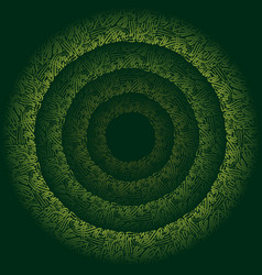 Abstract green persian background vector
