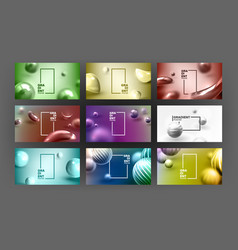 abstract liquid fluid background set vector image