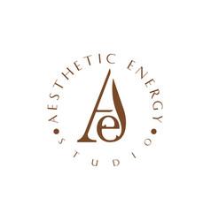 Aesthetic logo idea vector