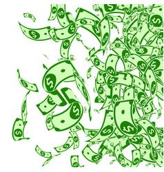 american dollar notes falling messy usd bills on vector image