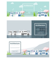 Architecture background Cityscape banner 3 vector