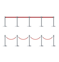 barrier ropes for exhibition show vector image