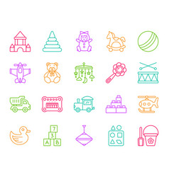 batoy simple color line icons set vector image