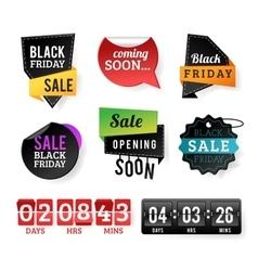 Black Friday sale badges vector