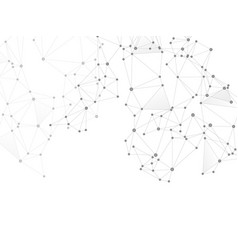 block chain global network technology concept vector image
