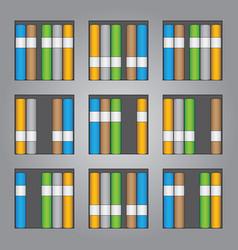 bookshelf background design vector image