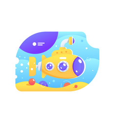 Bright colourful submarine vector