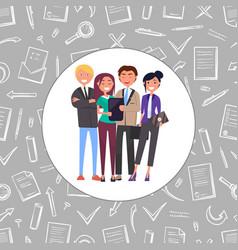 Business friendly team teamwork people vector