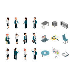 business people isometric office corporate vector image