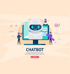chatbot future concept vector image