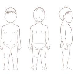 Child body silhouette vector