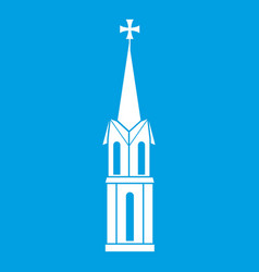 Church icon white vector