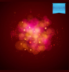 Cloudy red explosion background vector