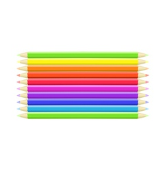 Colorful background different crayons vector image