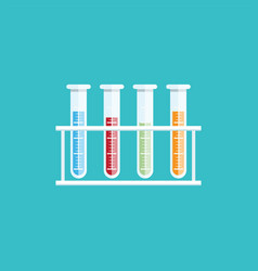 Colorful of test tubes or medical tubes vector