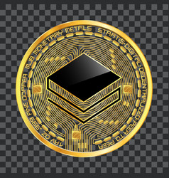 crypto currency stratis golden symbol vector image