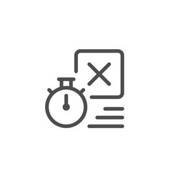 delivery time line icon vector image