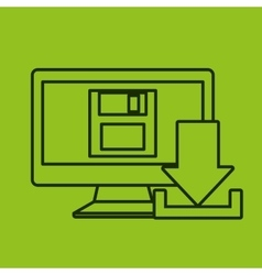 Download digital data icons vector