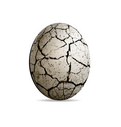 Egg of a dinosaur on a white background realistic vector