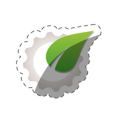 environment leave gear design vector image