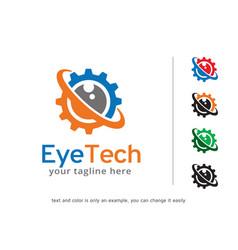 Eye tech logo template design vector