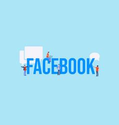 Facebook concept global web for communication vector