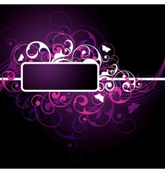 Fancy dark purple background vector